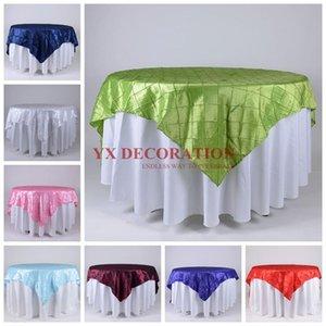 Table Cloth Price Taffeta Pintuck Overlay For Banquet Event Wedding Decoration