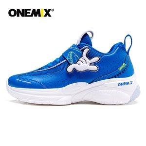 ONEMIX 2020 Neue Ankunft Orthopädische Schuhe für Kinder mit Bogenstütze Korrekturleder Leder Turnschuhe für Jungen Laufschuhe