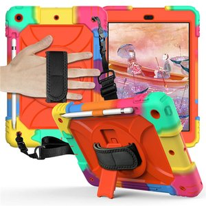 For iPad Case 8th Generation 10.2 Inch 3in1 Heavy Duty Shockproof Rugged Protective Cover Compatible with 7th Gen