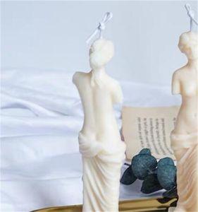 Художественное тело Свеча плесень Женская свеча силиконовые плесени аромат человеческая в форме богиня свеча изготовления восковой штукатурный плесень ручной работы 1416 V2