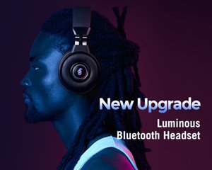 Colorful LED Light KINGKONG Wireless Gaming Bluetooth Headphones Hifi Stereo Earphones Headset with Mic Built in TF card slot FM radio