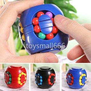 Little Magic Magic Feijão Colorido Rotating Kids Stress Relevo Brinquedo Para Adultos Crianças Plástico 5-7 12-15 Anos Mini Cubo
