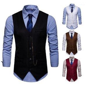 ZOGAA Men Blazer Vests Jacket Slim Fit Suit Vest Male Casual Sleeveless Waistcoat Gilet Homme Formal Business Jacket Vest 20191