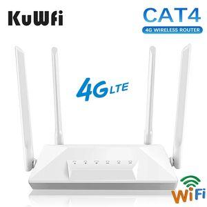 4G LTE Router Unlocked CAT4 Wireless CPE Mobile spot RJ45 LAN Port Modem with SIM Card Slot 150Mbps 4 External Antenna 210607