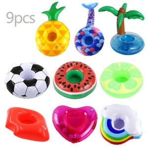 Pool & Accessories Inflatable Cup Holder Pack Of 9 Drink Swimming Float Bathing Toy Summer Beach Decoration Bar Coasters