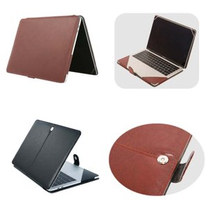 """PU Leather Laptop Cases For Macbook Air 11 13 15 Pro Folding Protective Case Protection Cover 13.3"""" 14"""" 15.4"""" 15.6"""""""