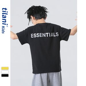 Luxury T-shirts Tilani Wear 2021 High Street Fashion Brand Short Sleeve Loose Boy's Middle School Children's T-shirt