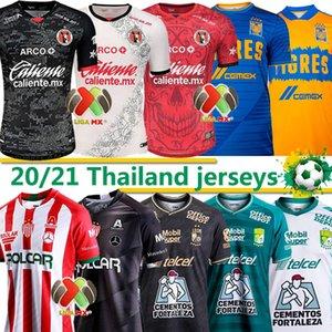 Liga MX 20/21 Soccer Jerseys Tre 3 stelle club Leon FC Tigres Uanl Necaxa Tijuana 2020 2021 Uomo Football Jersey Uniformi Consegna espressa
