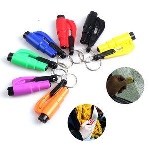 Mini Safety Hammer Keychain Pendentif Pendentif Car Fenêtre Verre Disjoncteur Ceinture Coupe-bande Économie Sauvez votre outil d'urgence