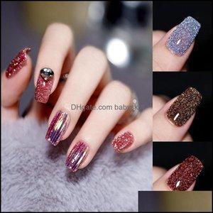 Nail Art Salon Health & Beautynail Polish Qsty Latest Glitter Semi-Permanent Varnish 10Ml Broken Diamond Gel Uv Led Semipermanent Gellac Ena