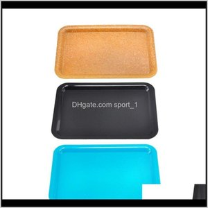 Rolling Plastic Cigarette Container 18X12Cm Small Size Hand Roller Holder Pure Color Case Spice Plate Tool S0Zis Other Accessories Sd9Ar