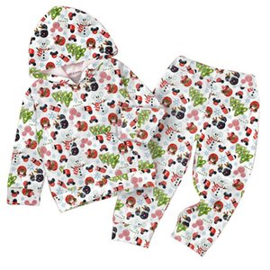Boys Clothing Sets Baby Suits Kids Clothes Children Wear Autumn Winter Long Sleeve Girls Christmas Hoodie Printed Casual Trousers Tracksuit 2Pcs B8254