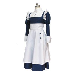 Costume de ménage de femme de ménage noir de diacre noir cosplay