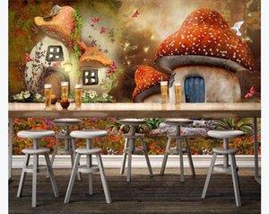 Custom large mural 3D wallpaper bedroom living Children Kids Fairy tale world mushroom Modern wall TV Home decor
