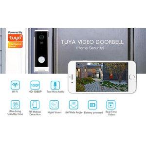 Cámara IP del timbre TUYA SmartLife Video Video Vigilancia WiFi 1080p Seguridad Cámaras inalámbricas al aire libre de dos vías Audio Smart Google D01
