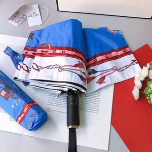 Feather Sun Shade Black White Sunny Rainy Umbrella Three Folding Coating Vinyl Sunscreen Umbrellas Free Ship