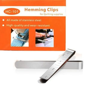 Quilting Supplies Set of 20 Stainless Steel Hemming Clips Craft Tools 3 Inches Measurement Ruler Sewing Clip for Pinning and Marking Sew Project