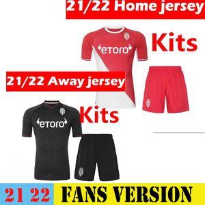 Kids Kit Mailleots Foot 20 21 كما موناكو لكرة القدم الفانيلة Balde Ben Yedder Gelson 2021 الصفحة الرئيسية Third Fabreags Golovin كرة القدم قميص الطفل بالجملة