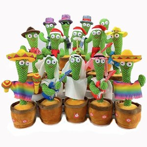 Decorative Objects & Figurines Lovely Talking Toy Dancing Cactus Doll Speak Talk Sound Record Repeat Kawaii Toys Children Kids Education Gif