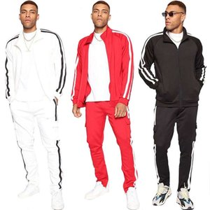 Tracksuits spring and autumn fashion brand men's suit casual Sportswear two piece stand collar set