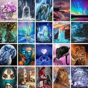 500+ diseños 5D Arts regalos DIY Pinturas Diamante Cruz Kitssdiamonds Mosaico Bordado Paisaje Animales Pintura Se puede personalizar