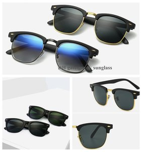 1 pcs moda óculos de sol óculos óculos de sol de luxo óculos de sol para homens mulheres meia-quadro anti-UV clássico des lunettes de soleil alta qualidade com caso