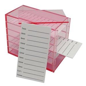 طبقة الاكريليك رمش تخزين حالة صندوق البليت حامل لاش امتداد عرض حامل أدوات ماكياج صناديق صناديق