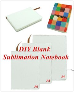 Blank Sublimation Notebook A4 A5 A6 Sublimation PU-Leather Cover Soft Surface Notebook Hot transfer Printing Blank consumables Gifts FWA4518