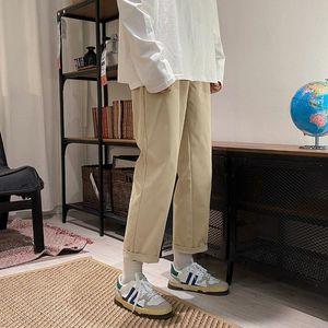 Neploha мужские сплошные цветные прямые брюки 2021 женщина повседневная негабаритные брюки корейский уличный мужчина