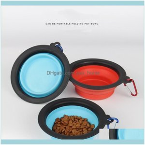 Bowls Feeders Supplies Home & Garden Pet Black Frame Portable Feeder Sile Non Slip Cat And Dog Tableware Folding Bowl T3I51596 Drop Delivery