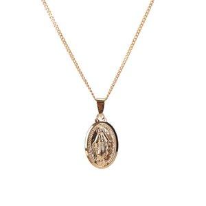 أزياء الرجال النساء الذهب الشظية الكاثوليكية العذراء ماري قلادة قلادة مجوهرات هدايا بالجملة