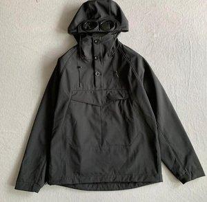 Men GOGGLE jacket casual CP hoodies outdoor windbreak black army green wine red size M-XXL