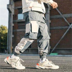 الهيب هوب العرق السراويل الذكور المرقعة النمط الياباني السراويل sweatpants الشارع الشهير ركض عارضة البضائع النساء الرجال الرجال