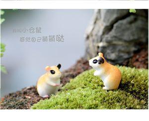 lovely mini cake toppers hamster microlandschaft capsule toys for kids
