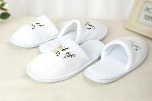 Wedding Pajamas Party Slippers Bronzing Letters Bride Bridesmaid Shoes Female Weddings Guest Room Disposable Thick Slipper