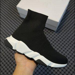 Plataforma treinador triplo s sock sapatos casuais sapato sapato hott vendendo sneaker homens mulheres paris senhora preto branco vermelho laço meias esportes sapatilhas top botas claras sola