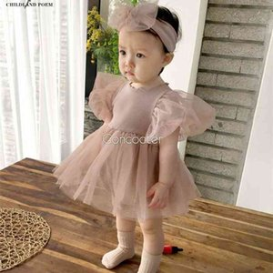 Girls Newborn Princess For 1st Birthday Party Wedding Infant Baby Girl Clothes Cotton Baptism Dress 210315