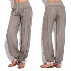 Women's Pants & Capris Cotton Linen Plus Size Solid Zaraing Y2k Loose Trousers For Female 2021 Summer Straight Pant Oversize