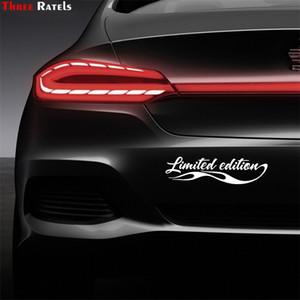 Three Ratels FTZ-162# 30x8.1cm Styling Limited Edition Sticker Auto Car Badge Decal Decoration