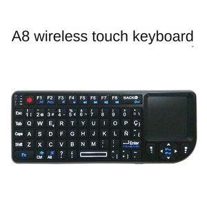 Keyboards 2.4G Bluetooth Wireless Gaming Keyboard White Backlight Touch Panel Multifunctional Computer Mechanical Key Mouse Bilgisayar