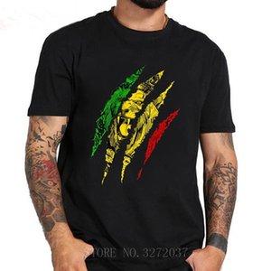 유다 왕의 전사 라이온 rasta reggae 자메이카 뿌리 남자 티셔츠 2021 새로운 성인 반팔 크루 넥 100 % 코튼 티 탑스
