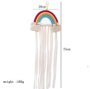 Gruppo di accessori per capelli accessori per capelli Appeso decorativo tessuto decorativo arcobaleno in stile nordico stile in stile nordico appendere le cinture di finitura BWE5483
