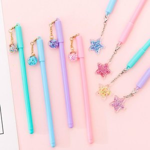 Gel Pens 1PC Cute Black Ink Signature Pen Promotional Stationery Kawaii Pendant Neutral For Kids Gift School Office Supplies St