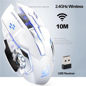 Mice Wireless Mouse Bluetooth Rechargeable Ultra-thin Silent LED Colorful Backlit Gaming For IPad Computer Laptop PC