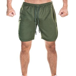 Running Shorts Double Gym Fitness Training Quick Dry Beach Layer Phone Pocket 2 In 1 ShortsShorts Sports Workout