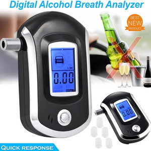 Dijital Alkol Nefes Test Cihazı LCD Breathalyzer Profesyonel Taşınabilir Analizör Dedektörü ile 5 Mousepieces Hızlı Tepki Alkolizm Testi