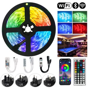 Strips DC12V Waterproof Flexible LED Strip Lights Bluetooth WiFi Luces RGB SMD2835 Tape Diode Remote Control Light For Room