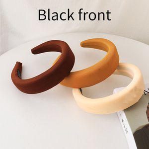 brand Designer Headbands Black front Luxury light Hair bands For Women Girl Brand Elastic Headband Sports Headband Head Wrap