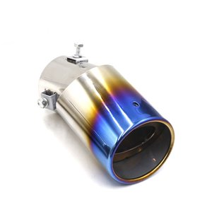 Universal Car Exhaust Muffler Tip Stainless Steel Elbow Tail Throat Liner Pipe