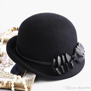 2020 En Iyi Beckyruiwu Lady Sonbahar Chic Düzensiz Brim Fedora Şapka Kadın Parti Örgün Üst Sınıf 100% Yün Keçe Şapka